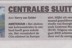 Telegraaf voorpagina Eemshavencentrale
